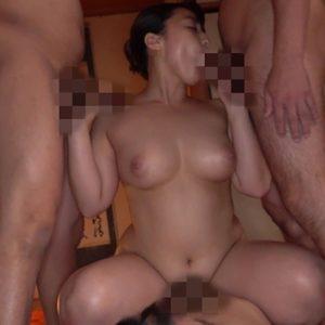 自宅闇風俗嬢を強要された献身爆乳妻が淫乱変態女に堕ち、旦那の前で乱交していく・・・