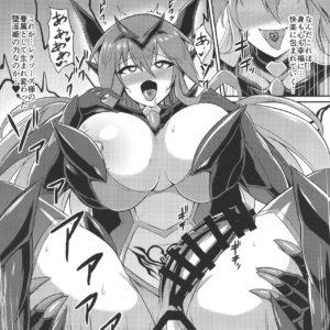 悪堕ちした仲間や悪女ボスのふたなりレイプで淫紋連鎖堕ちしていく聖戦姫リーダー・・・